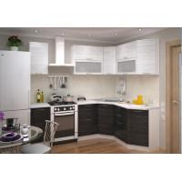Модульная кухня Валерия (страйп белый/черный)
