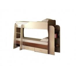 Каркас 2-х ярусной кровати с ящиками и полками
