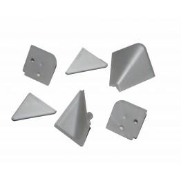 Комплект заглушек алюминий(для плинтуса)