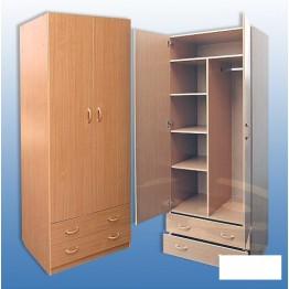 Шкаф для платья и белья 2-х дверный МДФ