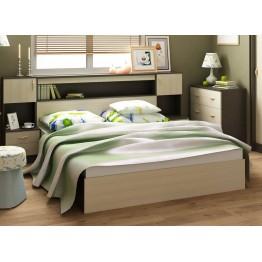 Кровать с закроватным модулем Бася